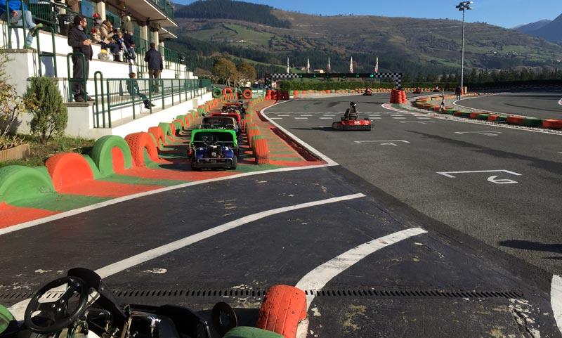 vista de circuito desde kart
