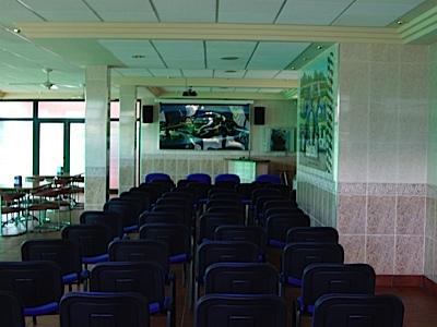 sala con proyector